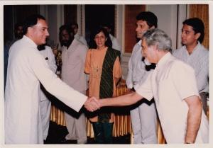 PM Rajiv Gandhi & Mosie